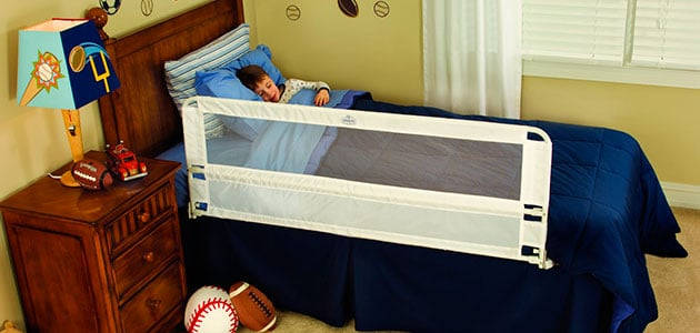 regalo extra long bed rail keeping toddler safe while he sleeps