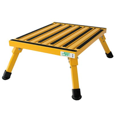 Aluminum safet step stool for outdoors use