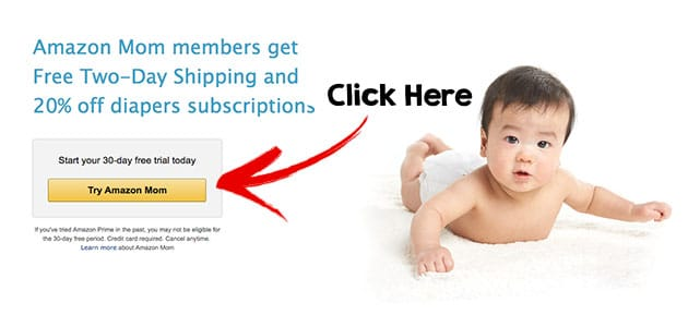 Amazon Mom Sign Up Page