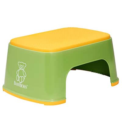 BabyBjorn Safe Step Step Stool For Toddlers In Yellow And Green