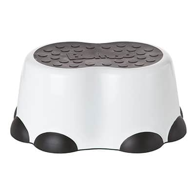 bumbo toddler step stool in black and white
