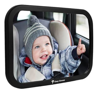 Cozy Greens 360 Adjustable View Back Seat Of Car Baby mirror
