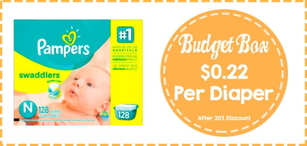 Pampers Swaddlers Diapers Newborn Size Giant pack Discount coupon