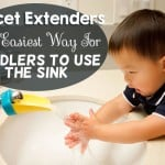 Faucet Extenders: Now even your toddler can reach running water