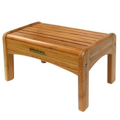 growing up green wooden step stool