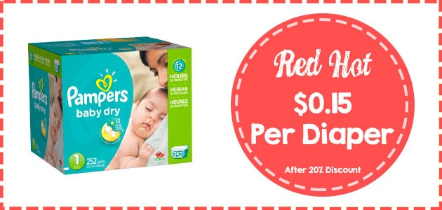 Pampers baby dry economy size 1 - 252 count discount
