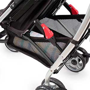 storage basket under the summer infant 3d lite umbrella stroller