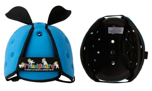 blue thudguard baby safety helmet front and bottom