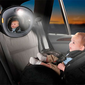 Brica car mirror for baby with built in night light