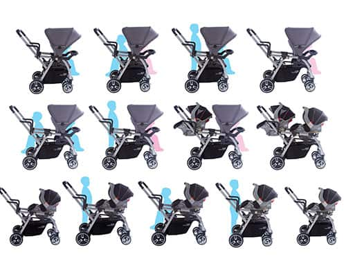 different stroller combinations of the joovy caboose ultralight