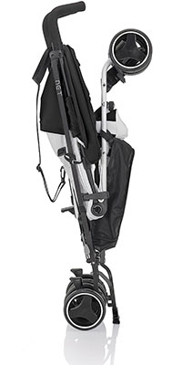 folded inglesina umbrella stroller standing upright