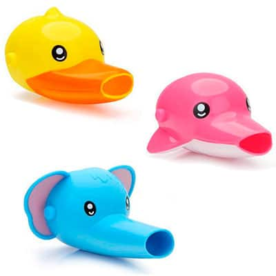 duck elephant and dolphin animal faucet extenders