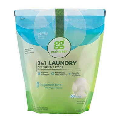 grab green 3-in-1 natural laundry detergent pods