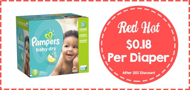 pampers baby dry economy size 3 - 204 count coupon
