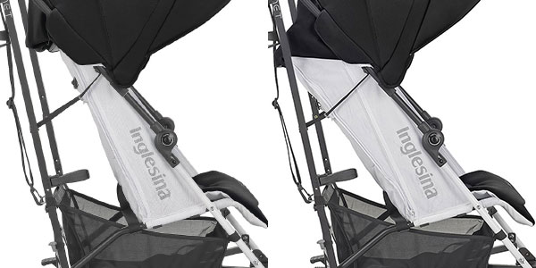 reclining seat levels on the inglesina net umbrella stroller