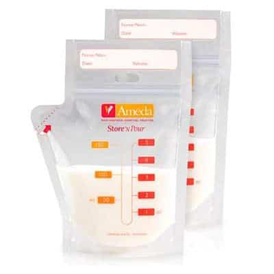 Ameda pour N store breast milk storage bags