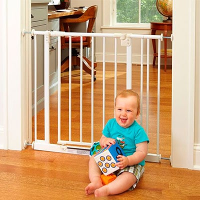 North States Supergate easy open pressuer mounted baby gate