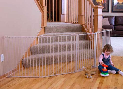 Regalo Play Yard Baby Gte Used At Bottom Of Stairs With Landing