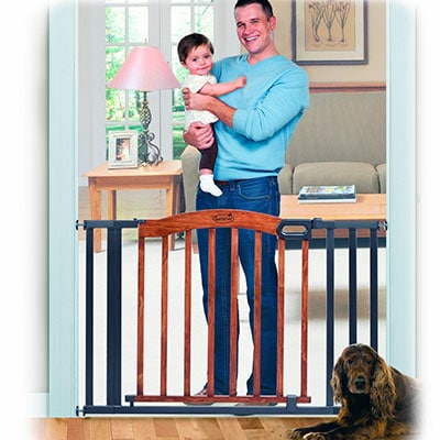 Summer Infant extra wide Decorative Wood Metal 5-foot pressure mounted baby gate
