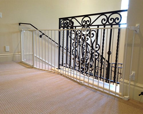 Baby Proofing A Staircase Without Rails Using A Baby Gate