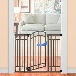 summer infant decorative pressure mounted baby gate with narrow door