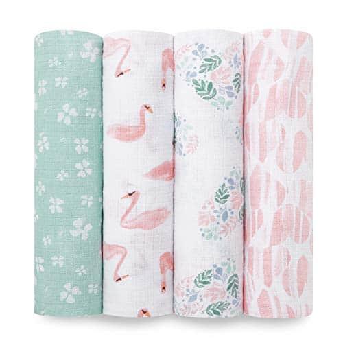 four folded swaddle blanket