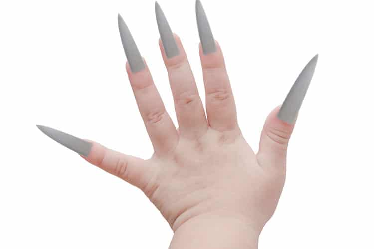 Baby Hand with razor sharp finger nails