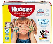 Huggies Simply Clean Unscented Baby Wipes