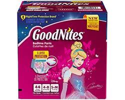 GoodNites Bedtime Pants For Girls