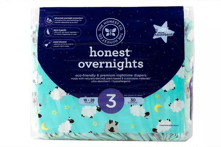 Honest overnight natural diapers