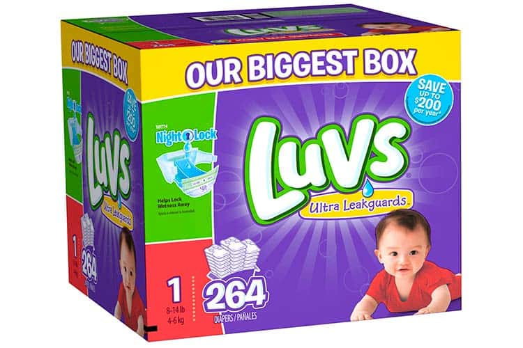Luvs ultra leakguards overnight diapers value box