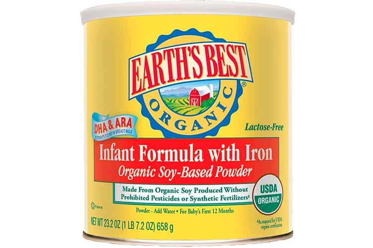 Earths Best Organic Soy Based Powdered Baby Formula