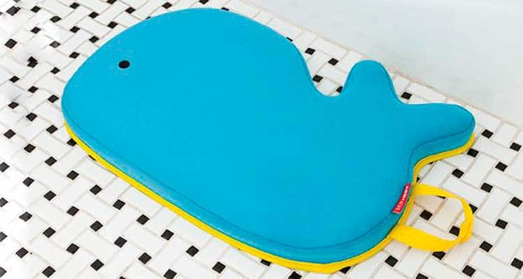Skip hop Whale bath Kneeler on Tiled bathroom Floor