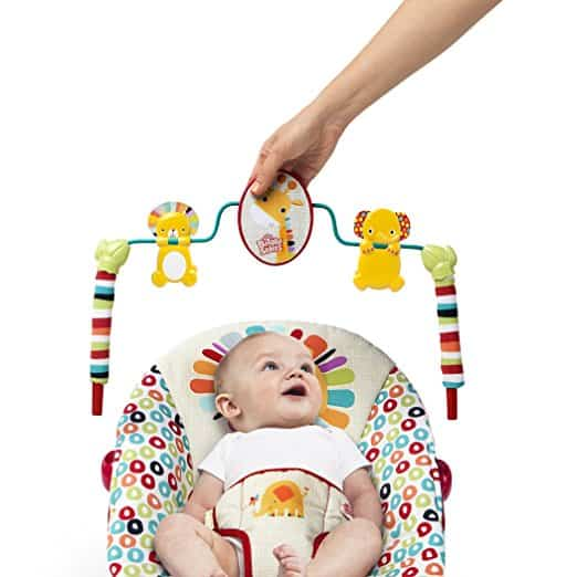 bright starts toy bar - best baby bouncer