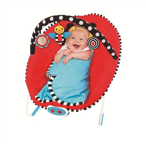 sassy baby cuddle bug bouncer closed blanket - best baby bouncer