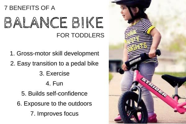 Benefits of using balance bikes