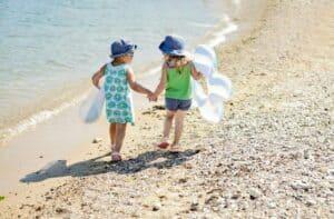 friends on the summer beach