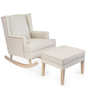 Barton Upholstered Nursery Glider Rocking Chair