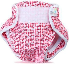 girls pink swim diaper with velcro clasp