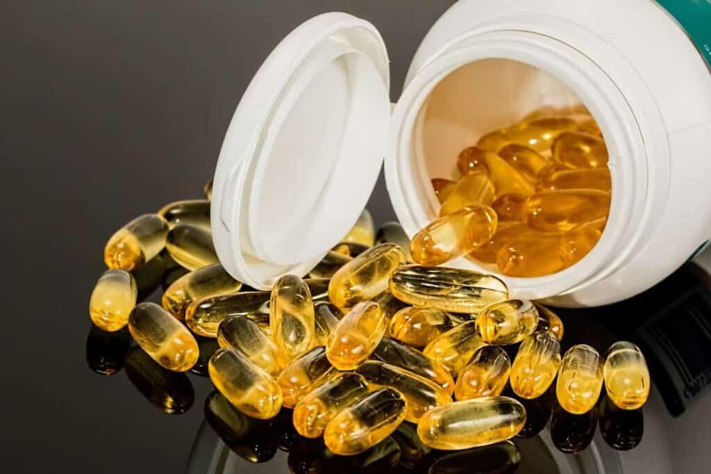 Yellow Capsule Medicine