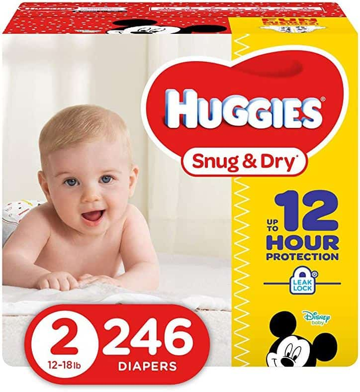 Huggies Snug and Dry Diapers - Size 2 - 246 Count