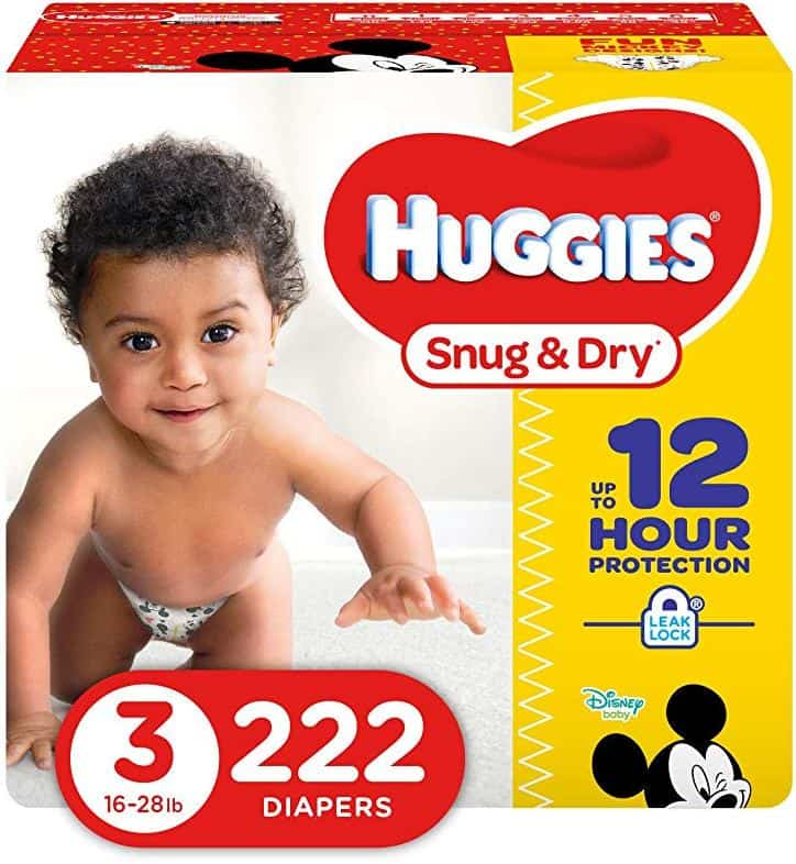 Huggies Snug and Dry Diapers - Size 3 - 222 Count