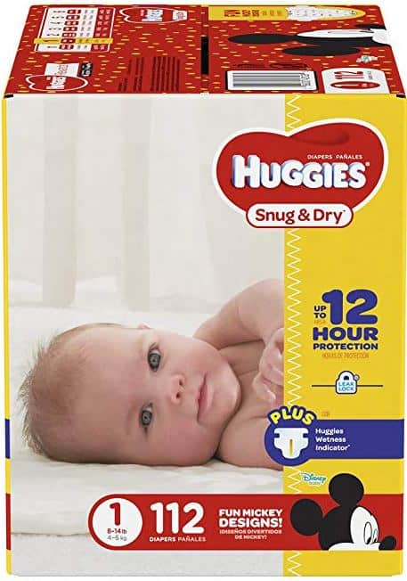 Huggies Snug and Dry - Size 1 - 112 Count