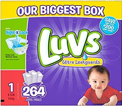 Luvs Ultra Leakguards Diapers - Size 1 - 264 Count
