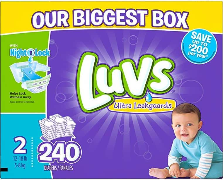 Luvs Ultra Leakguards Diapers - Size 2 - 240 Count