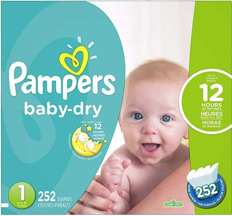 Pampers Baby Dry Diapers - Size 1 - 252 Count
