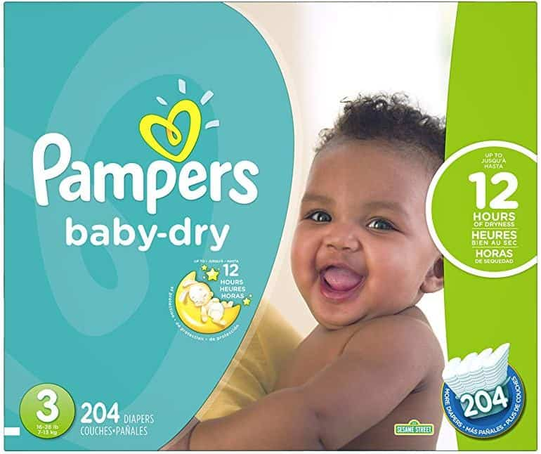 Pampers Baby Dry Economy Size 3 - 204 Count
