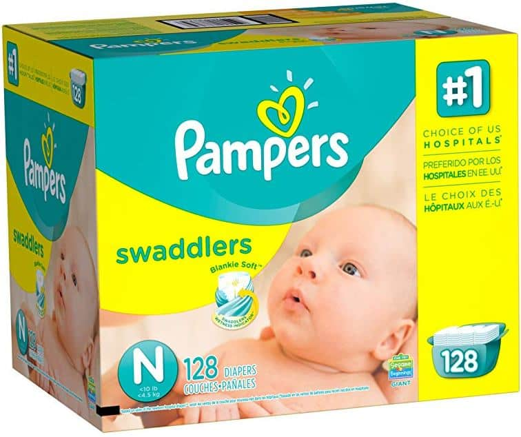 Pampers Swaddlers - Size N (Newborn) - 128 Count