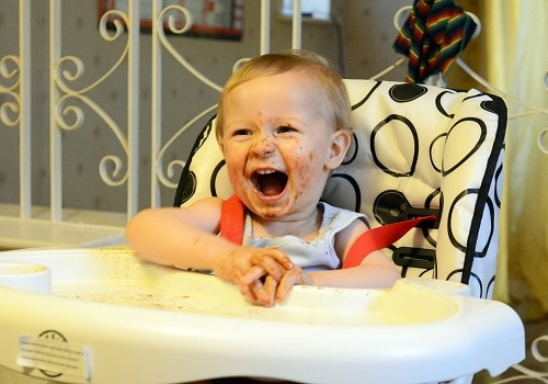 Baby is laughing