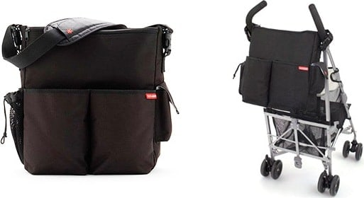 stroller diaper bag on and off a stroller